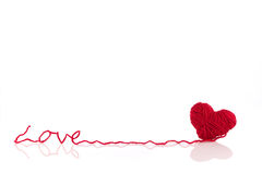 Heart of yarn Royalty Free Stock Photography