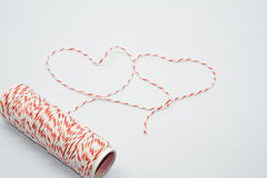 Heart Yarn Royalty Free Stock Images