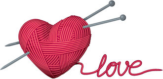 Heart of yarn Stock Photography