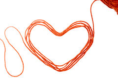 Heart yarn Stock Photos