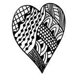 Heart in zentangle style Stock Photo