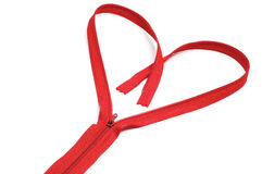 Heart zipper Royalty Free Stock Images