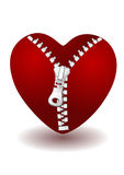 Heart with zipper Royalty Free Stock Images