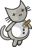 Heartache Kitty. A cartoon Cat ready to end it all. Part of the Goodbye Kitty Series. Vector and high resolution jpeg files available Stock Photos