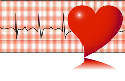 Heartbeat. Cardiogram, heart pulse, vector illustration stock illustration