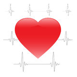 The heartbeat. Heartbeat in the background of the electrocardiogram, vector illustration, eps10 Stock Photo