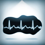 Heartbeat on an abstract shape Stock Photo