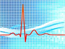 Heartbeat background Royalty Free Stock Image