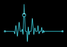 Heartbeat from Berlin Royalty Free Stock Image