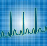 Heartbeat blue Royalty Free Stock Photos