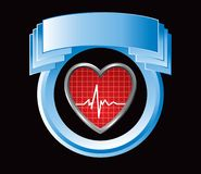 Heartbeat in blue display Royalty Free Stock Photos