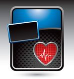 Heartbeat on blue stylized advertisement Royalty Free Stock Photo