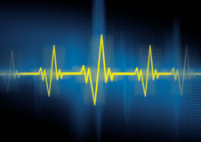Heartbeat, cardiology Stock Photo