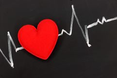 Heartbeat character and design Stock Images