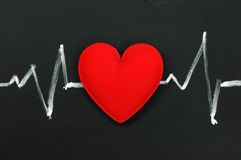 Heartbeat character and design Stock Photo