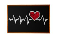 Heartbeat character and design, love heart Stock Photo