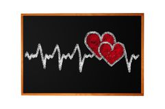 Heartbeat character and design, love heart Stock Photography