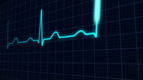 Heartbeat curve stock video footage
