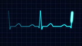 Heartbeat curve stock video