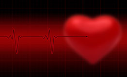 Heartbeat Desgn. Medical condition Design, Heartbeat, illustration Stock Image