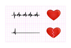 Heartbeat diagram illustration Royalty Free Stock Photos