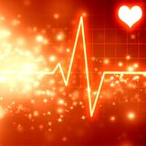 Heartbeat on display Royalty Free Stock Photos