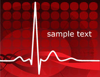 Heartbeat, ekg. Vector normal ecg red background, heartbeat. Great for scientific, medical purposes Stock Photos