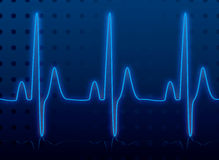 Heartbeat glow Royalty Free Stock Images