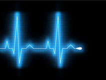 Heartbeat glow on a black monitor. EPS 8 Royalty Free Stock Image