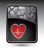 Heartbeat on gray cracked background Royalty Free Stock Image