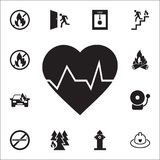 Heartbeat icon. Detailed set of fire guard icons. Premium quality graphic design sign. One of the collection icons for websites, w. Eb design, mobile app on Stock Photography