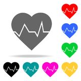 Heartbeat icon. Element firefighters multi colored icons for mobile concept and web apps. Icon for website design and development,. App development. Premium Royalty Free Stock Photography