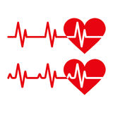 Heartbeat icons Royalty Free Stock Image
