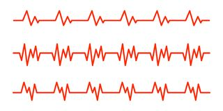 Heartbeat icos. Vector illustration royalty free stock photography