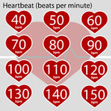 Heartbeat infographic Stock Images