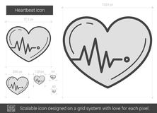 Heartbeat line icon. Royalty Free Stock Photography
