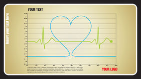 Heartbeat love Stock Photos