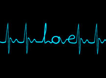 Heartbeat of love Royalty Free Stock Photo