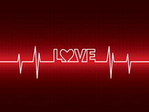 Heartbeat with love Stock Photography