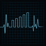 Heartbeat make business graph Royalty Free Stock Image