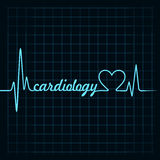Heartbeat make cardiology text and heart symbol Royalty Free Stock Image