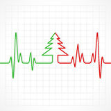 Heartbeat make christmas tree Stock Images