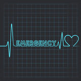 Heartbeat make emergency  word and heart Stock Images