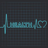 Heartbeat make health word and heart Royalty Free Stock Images