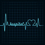 Heartbeat make a hospital text and heart symbol stock  Royalty Free Stock Image