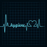 Heartbeat make hygiene word and heart symbol Stock Photography