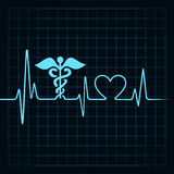 Heartbeat make medical and heart symbol Stock Photography