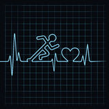 Heartbeat make running man symbol Stock Images