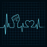 Heartbeat make unity hand and heart Royalty Free Stock Photography