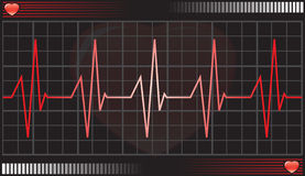 Heartbeat monitor Stock Photography
